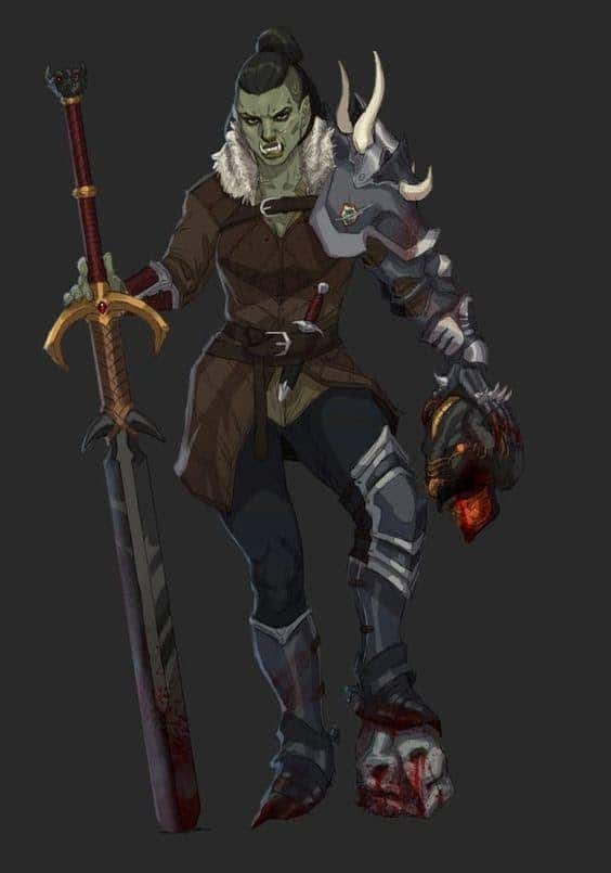 D&D 5e: Half-Orc Blood Hunter
