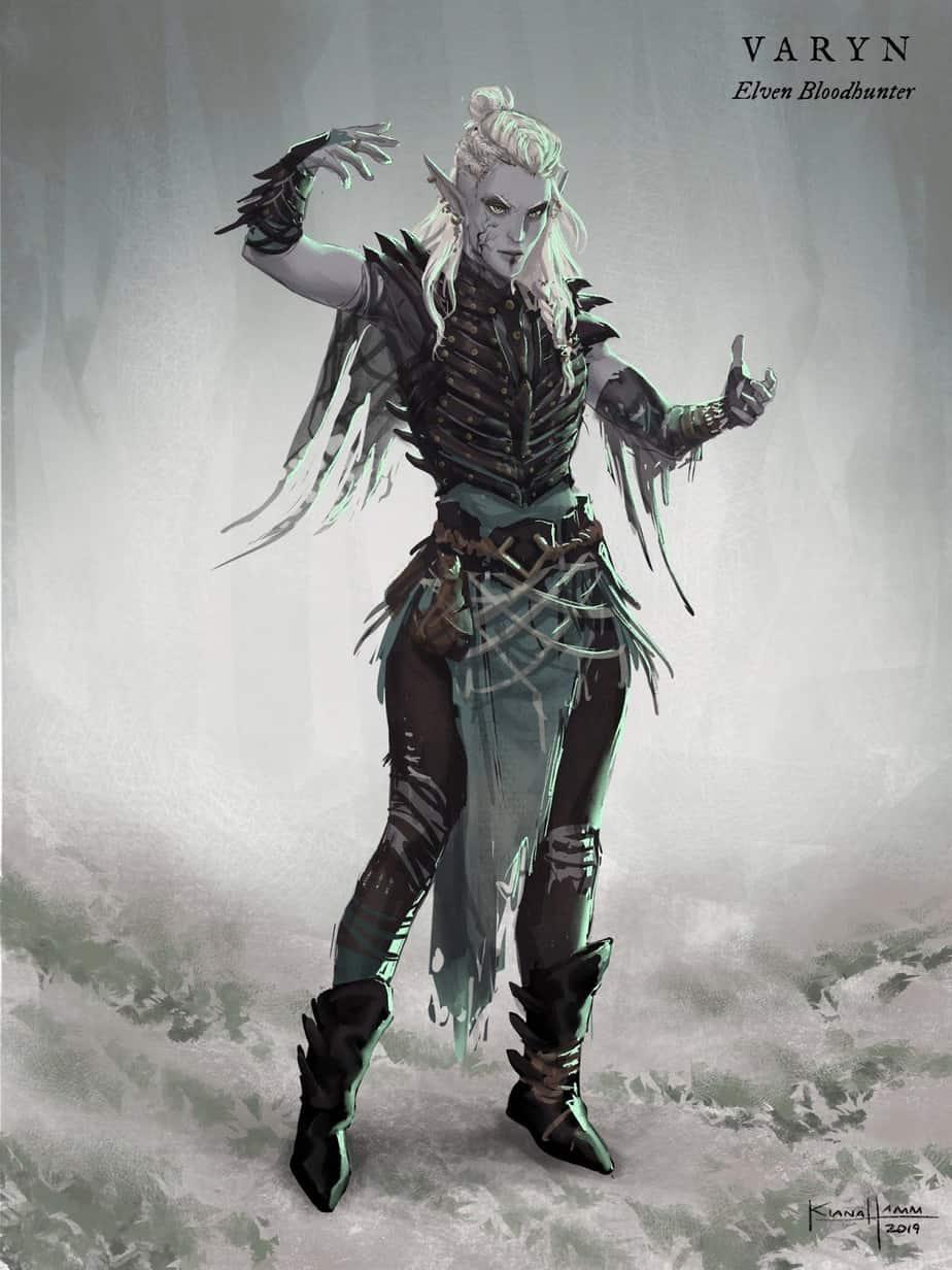 D&D 5e: Half-Elf Blood Hunter